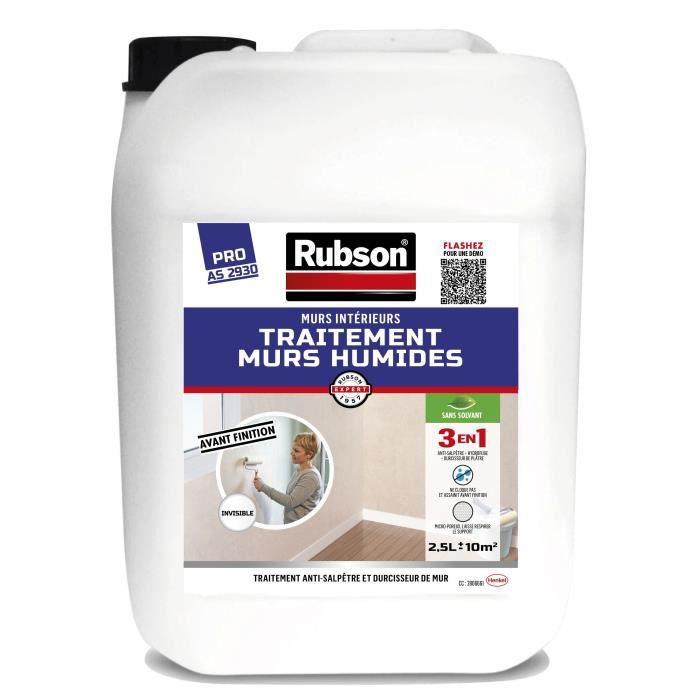 Rubson Traitement Anti Salpêtre Murs Humides Intérieurs Incolore 2 5 L