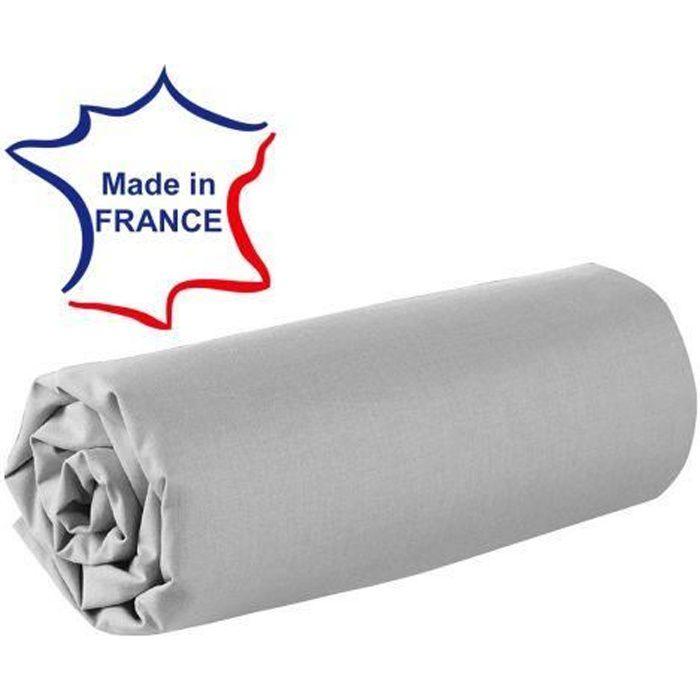 Drap Housse Imprime 120x190 Cm 100 Coton Diego Gris Bonnet 30 Cm Linnea Linge De Maison Et