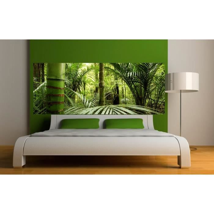 stickers t te de lit d co jungle dimensions 300x117cm achat vente stickers vinyl carton. Black Bedroom Furniture Sets. Home Design Ideas