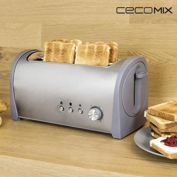 Russell Hobbs 21395-56 Toaster Grille-Pain Fente Large Sp/écial Baguette Colours R/échauffe 6 Niveaux R/églables Cr/ème D/écong/èle