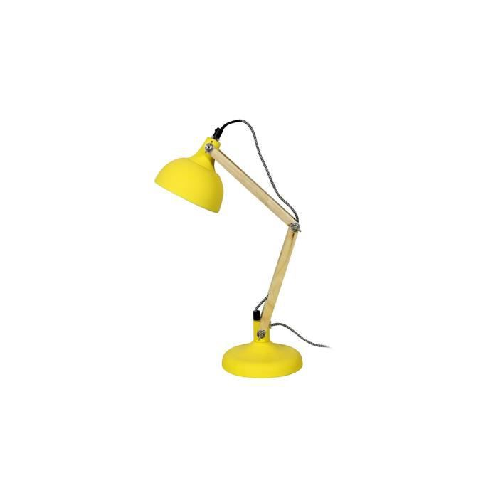 lampe de bureau dexter mini jaune mat achat vente lampe de bureau dexter mini soldes d s. Black Bedroom Furniture Sets. Home Design Ideas
