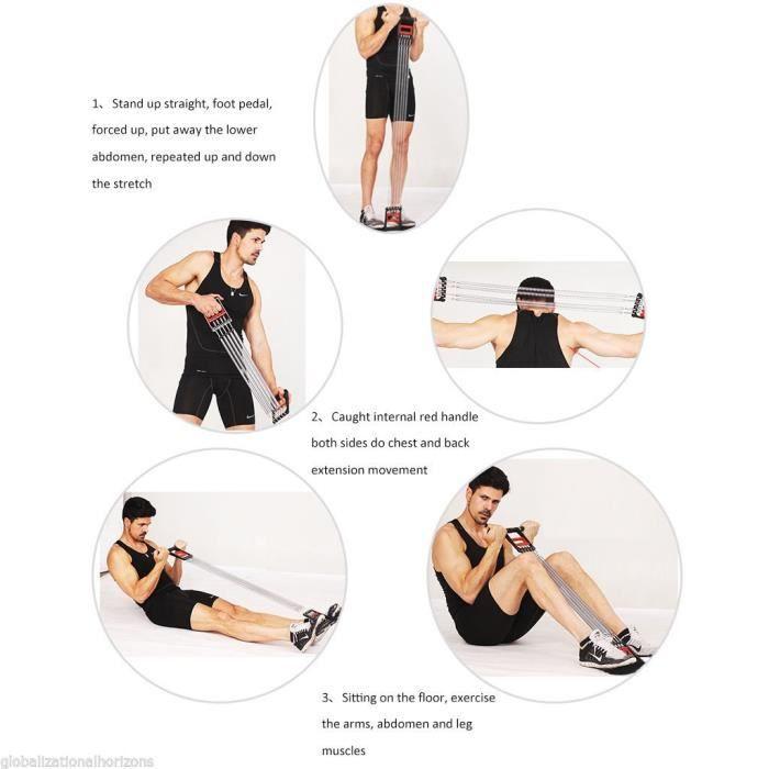 liyset Ressort de Musculation extenseur /à 5 Ressorts Pectoraux Biceps