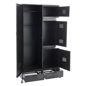 armoire metal industriel achat vente pas cher. Black Bedroom Furniture Sets. Home Design Ideas