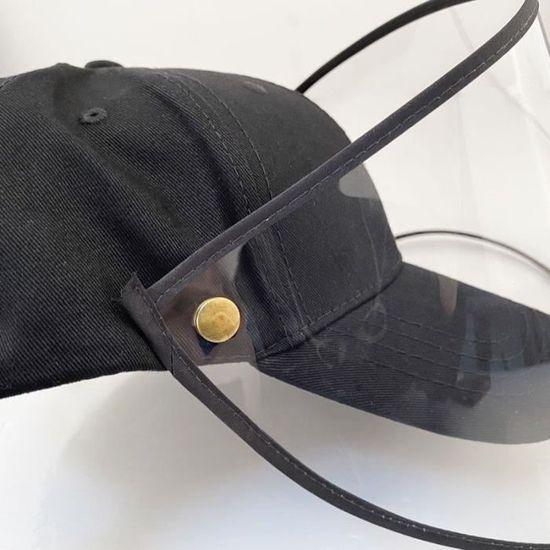 Domybest Chapeau de Protection Anti-crachats Casquette de Baseball Anti-bu/ée Coupe-Vent Anti-poussi/ère Chapeau avec Protection Faciale Amovible Visi/ère Transparente pour Femmes Hommes