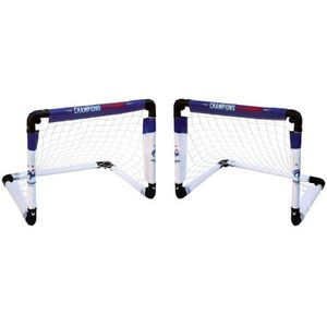MINI-CAGE DE FOOTBALL 2 Minis Buts Cages Football Pliable FFF Equipe de