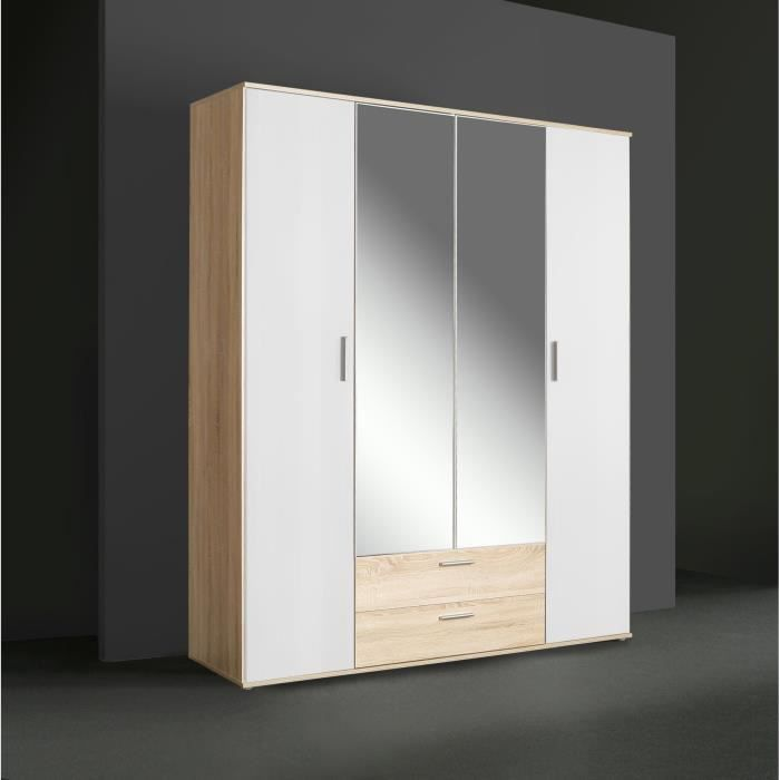 grande armoire penderie achat vente pas cher. Black Bedroom Furniture Sets. Home Design Ideas