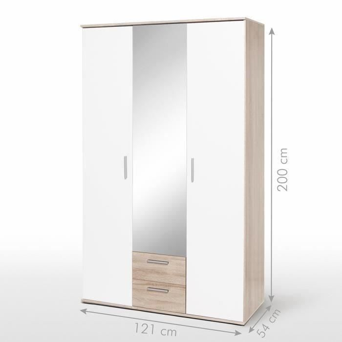 finlandek armoire nano 120 cm blanc ch ne achat vente. Black Bedroom Furniture Sets. Home Design Ideas