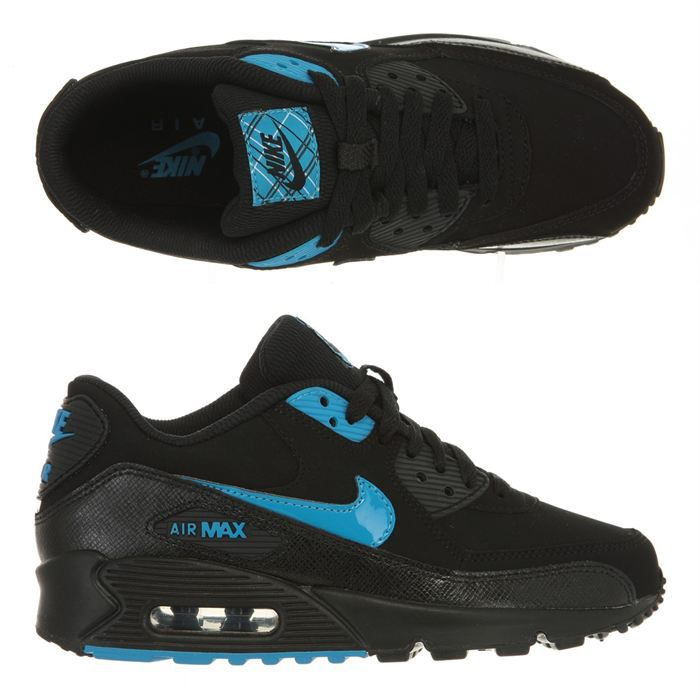 nike baskets air max 90 enfant noir et bleu achat vente basket cdiscount. Black Bedroom Furniture Sets. Home Design Ideas