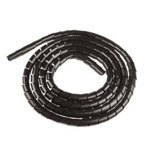 CÂBLE - FIL - GAINE Gaine spirale diamètre 6mm noir