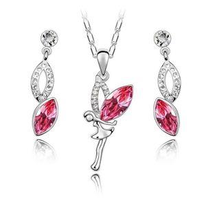 PARURE Parure Bijoux Fée Clochette Cristal Swarovski* Ros