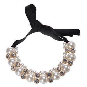SAUTOIR ET COLLIER Benjanies®Double rangée collier perle Bande réglab