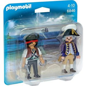 FIGURINE - PERSONNAGE PLAYMOBIL 6846 - Pirate et Soldat Royal