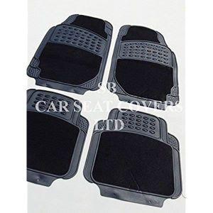 TAPIS DE SOL  Peugeot 207, noir 2210 PVC Tapis de sol caoutchou