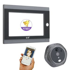 SONNETTE - CARILLON 7inch 720 P WiFi Sans Fil Digital Judas Porte Visi