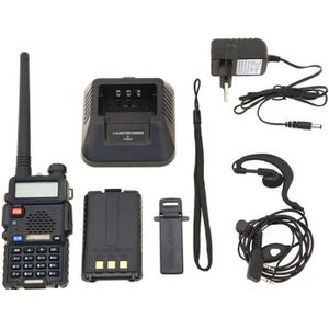 TALKIE-WALKIE Baofeng UV-5R Talkie-walkie FM radio VHF/UHF avec