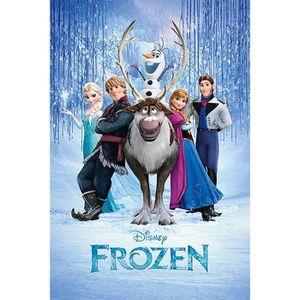 AFFICHE - POSTER Poster Frozen La Reine des neiges Personnages