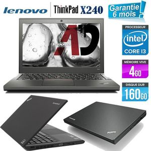 Top achat PC Portable Lenovo X240 Core i3 1.9 GHz HDD 160 Go RAM 4 Go pas cher