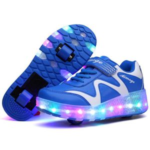BASKET Enfants chaussures à roulettes LED lights heelys b