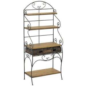 etagere rotin achat vente etagere rotin pas cher cdiscount. Black Bedroom Furniture Sets. Home Design Ideas