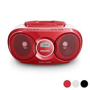 RADIO CD CASSETTE Radio CD Philips AZ215/12 3W - couleur:Rouge