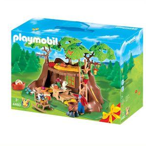 UNIVERS MINIATURE Playmobil Famille de lapins et maison