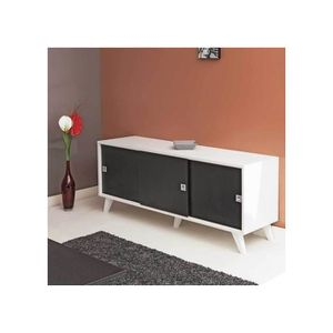 enfilade 3 porte coulissante achat vente enfilade 3 porte coulissante pas cher cdiscount. Black Bedroom Furniture Sets. Home Design Ideas