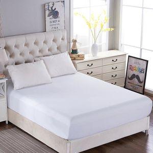 DRAP HOUSSE drap housse blanc 140*190 bonnet 30cm drap de lit