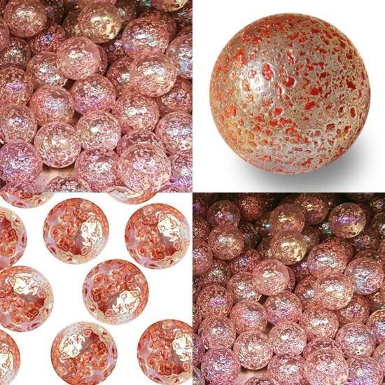 500 GR Vert Fonc/é Givr/é 120 Billes Plates Galet en Verre 20 mm Cailloux en Verre d/écoratifs mesbilles