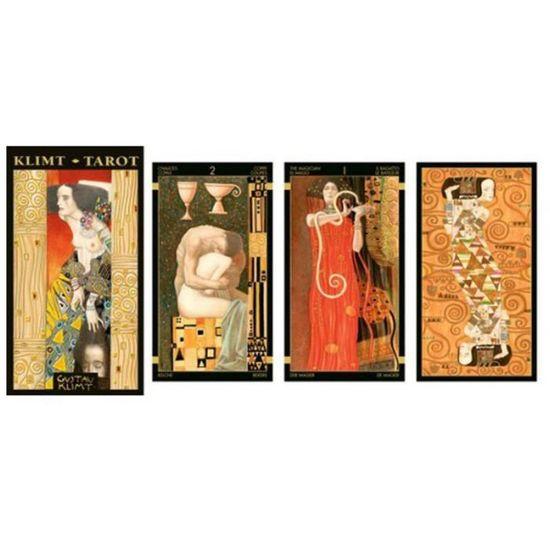 Tarot Createur Gustav Klimt Dore Multicolore 12x7 Cm Q6746 Achat Vente Pendule Divinatoire Tarot Createur Gustav Klim
