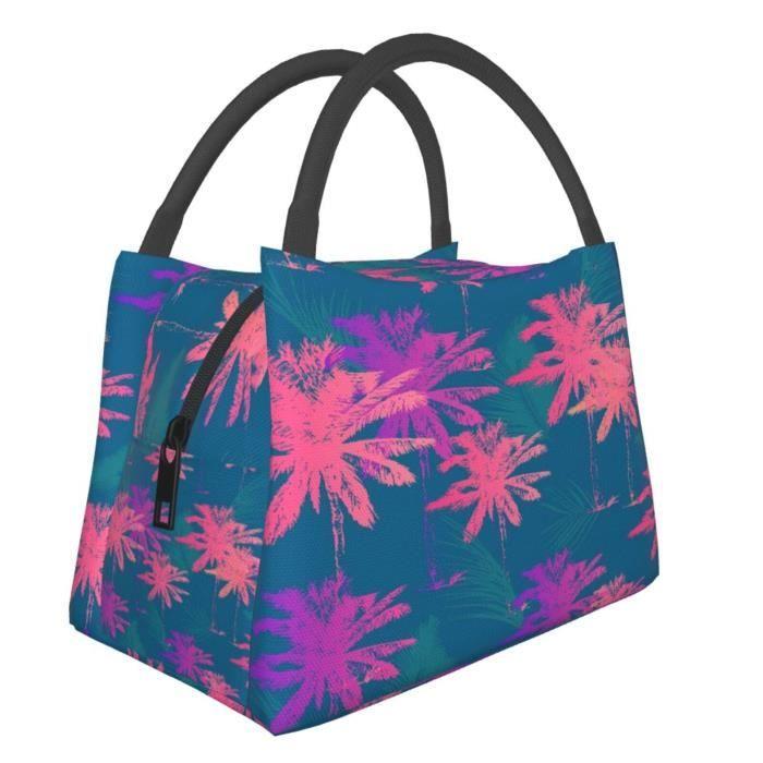 Sac à Lunch,Sac à dos avec motif palmier dans un style simple sans couture 18x 28x 16.5cm