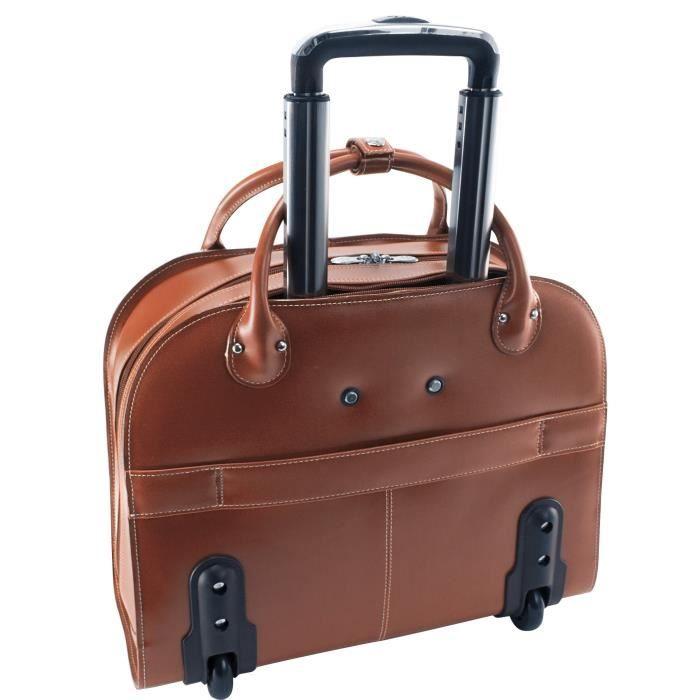 Valise Ou Bagage Vendu Seul RRQMR Porte-documents à roulettes pour ordinateur portable, cuir, taille moyenne, - Edgebrook McKlein