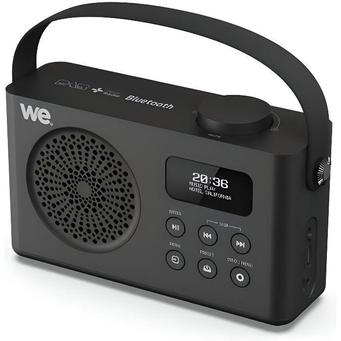 Réveil - - WE Radio Réveil Connecté Digitale Portable DAB DAB+ FM Enceinte Bluetooth Batterie Rechargeable Lecteur USB Micro SD -