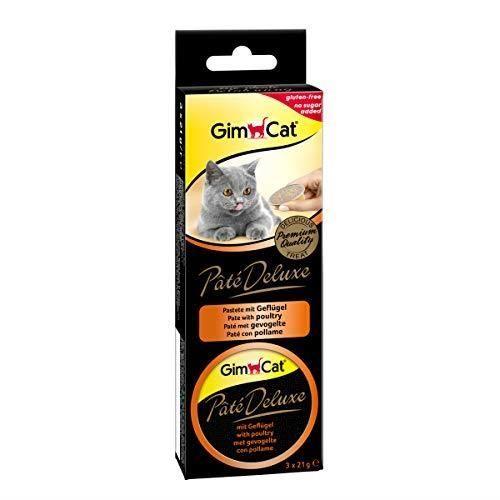 GimCat Pâté Deluxe à la volaille - En-cas de terrine fine savoureuse pour chats - Sans sucre ajouté, contient de la via 41415