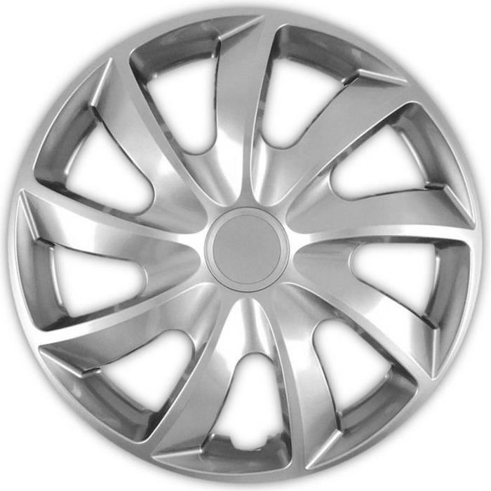 Enjoliveurs de roues 15 - QUAD argenté 4 pièces NRM