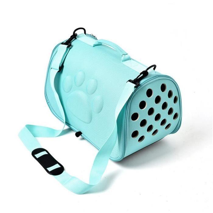 Sac de transport,Chat chien transporteur sac Portable animaux sac à main pliable en plein air sac de voyage pour - Type green-M