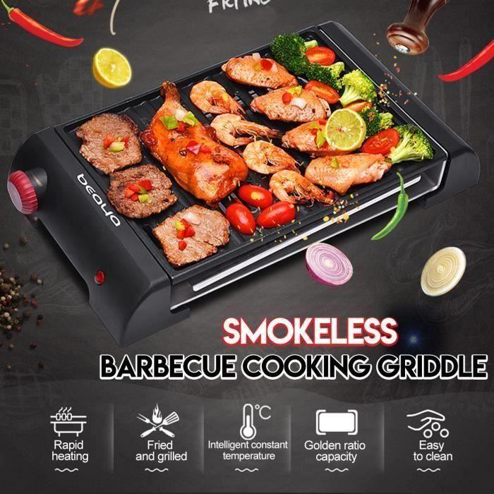 Barbecue Electrique sans Fumée Antiadhésive Avec Grille de Stockage Plateau de Cuisson 220V An24112
