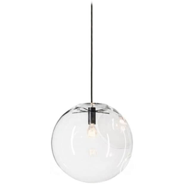 PLAFONNIER Boule en verre Wings of Wind E27 suspension lustre transparent goutte en verre lampe &agrave suspension support de la181