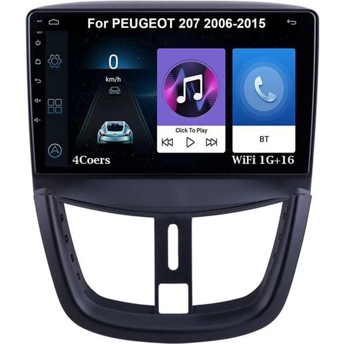 Autoradio 9 Inch Écran Tactile Voiture Multimédia Android Auto Pour PEUGEOT 207 2006-2015 Accessoires De Voiture Brancher Et Ut 193