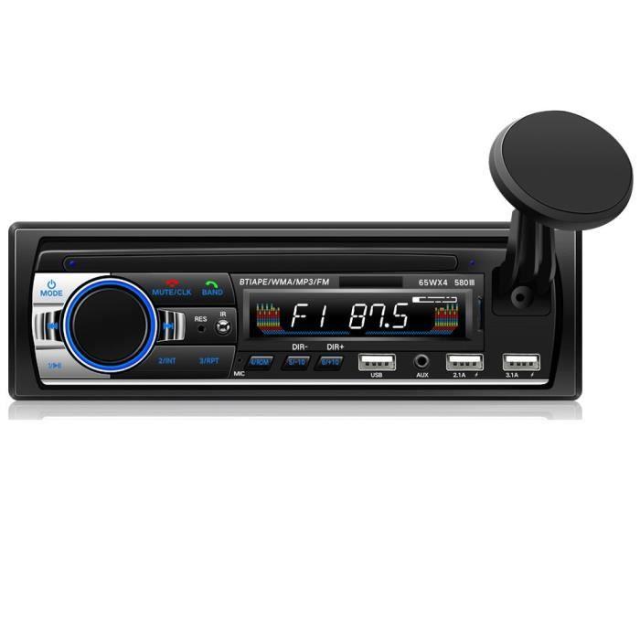 24v Autoradio Bluetooth V5.0, 12V-24V, 2 din, lecteur Audio stéréo, FM, USB, SD, MP3, MMC, WMA, entrée auxili
