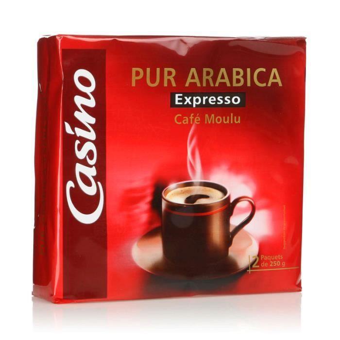 Lot de 2 Café moulu expresso - Pur arabica - 250g