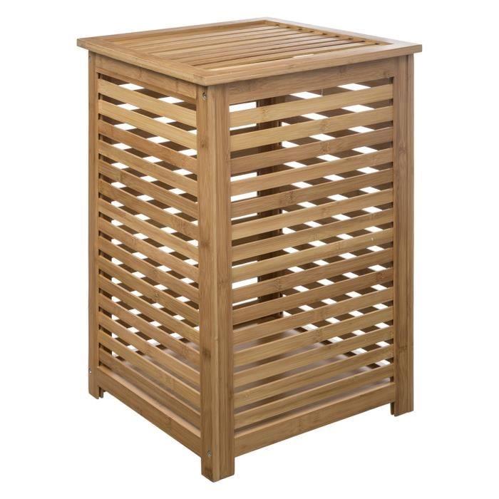 Panier à linge Sicela bambou Autres Beige