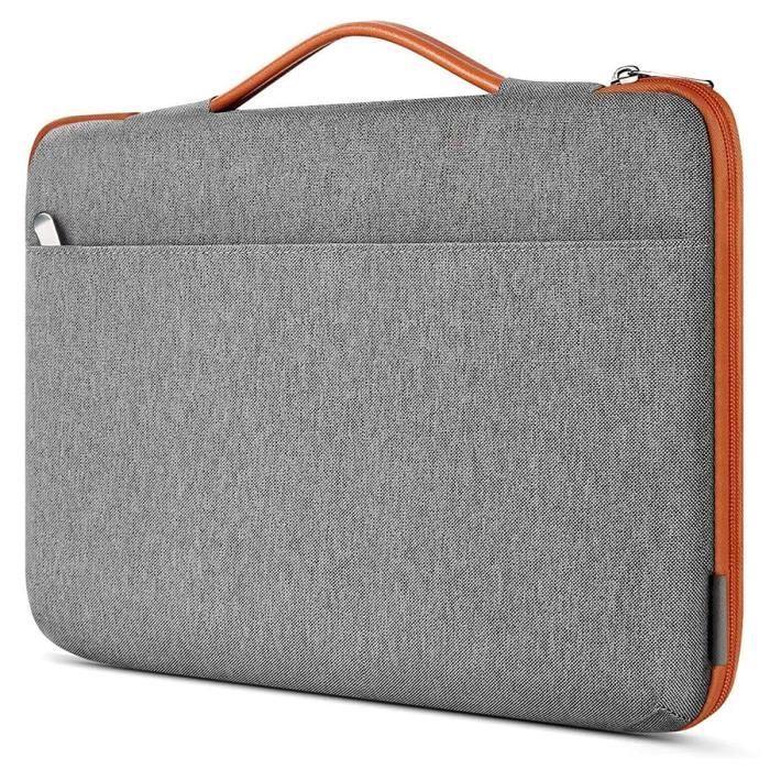 Sacoche de Protection et Transport (M-Gris-Orange) pour ordinateur Portable HP Envy x360 15,6-