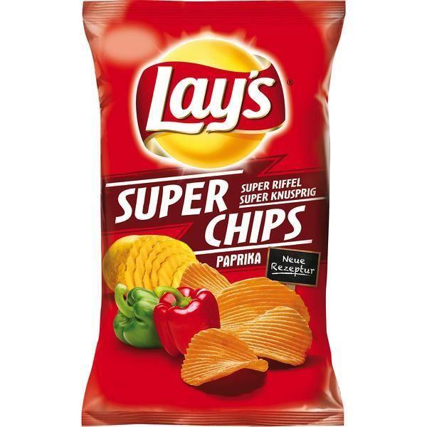 10x Lays Super Chips Paprika 175g