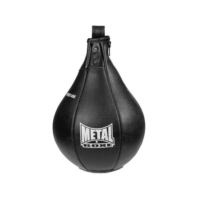 -Poire de vitesse en cuir Métal boxe Héraclès-TU-noir---TU-noir--------------noir-TU TU Noir