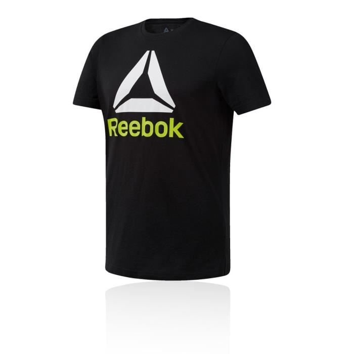 Reebok Hommes Qqr Stacked T-Shirt