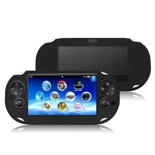 Etui noir silicone - Protection de console Sony PS Vita