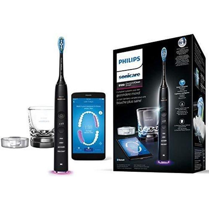 Philips Sonicare HX9901-13 Brosse à Dent Diamondclean Smart Connectée via App et Tête Intelligente, Noir HX9901-13