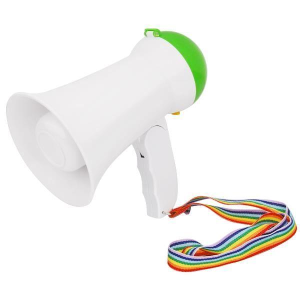 TRIXES Mégaphone haut-parleur porte-voix 10 W