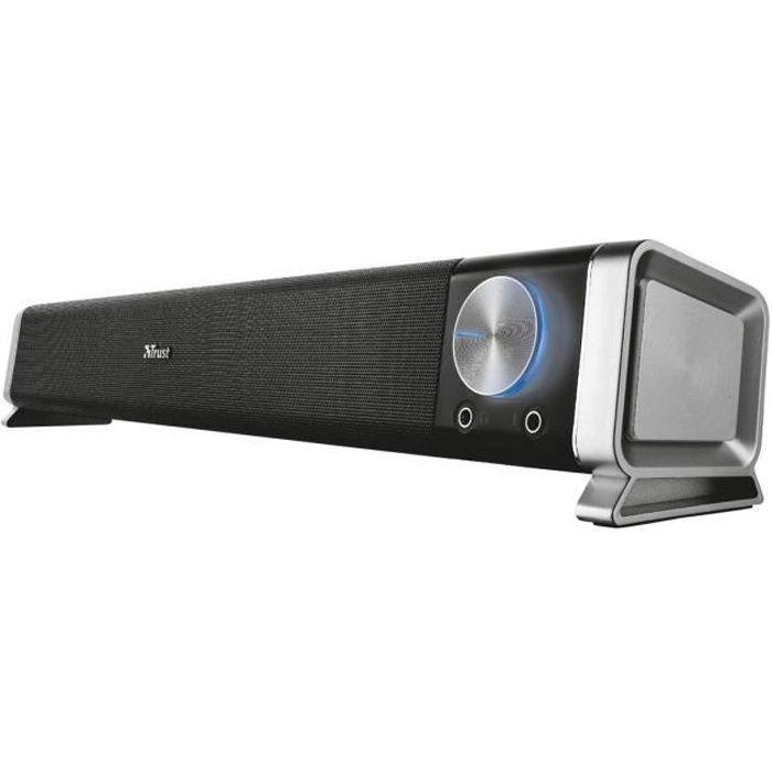 TRUST Asto Sound Bar PC Speaker - Barre de son pour PC - Noir
