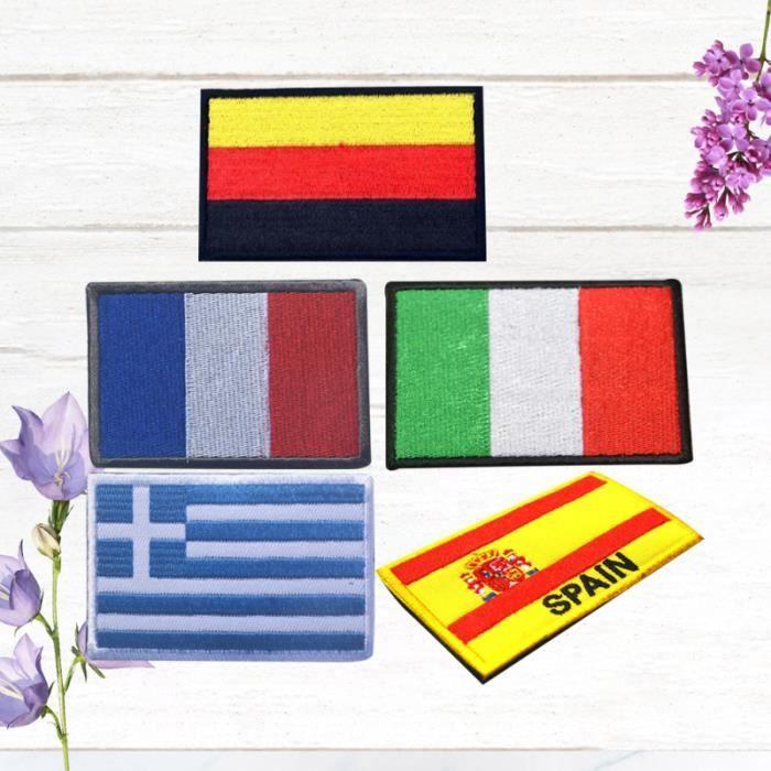 Sacs pour accessoires de pâte de tissu brassard sport crochet décoratif boucle drapeaux nationaux APPAREIL ABDO - PLANCHE ABDO
